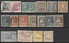 Azores Portuguese Colony pre-1932 hi val selection 17 diff stamps cv $61.60
