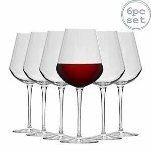 Large Wine Glasses Bormioli Rocco Inalto Uno Stemmed Red White Glass 560ml x6