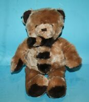 "Brookstone Tan Brown Plush TEDDY BEAR 14"" NAP Soft Toy Scarf Stuffed Animal New"