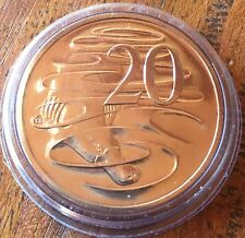Clearance 2008 Australian Unc .20c Twenty Cent Uncirculated Coin With Capsule