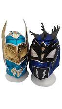 WWE Blue Sin Cara & Blue Kalisto w/Tail Wrestling Masks Lucha Dragons Kids Adult