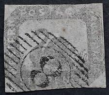 1857/9 Western Australia 6d Grey Black Hilman Imperf Swan stamp Used
