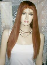 full lace wig 100% indian remy human hair 22'' color 30 perruque indétectable