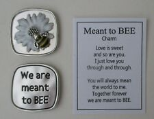 m We are meant to be MEANT TO BEE Pocket token charm bumblebee Ganz