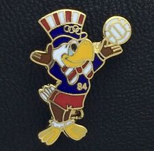 Olympic Pin Badge~Volleyball~Mascot~Sam the Eagle~1984 LA~cut out~Los Angeles