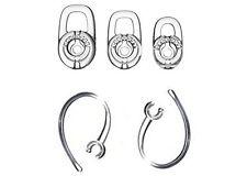 New SET 3pcs SML Earbuds 2pcs Earhooks for Plantronics Marque M155 Marque 2 M165