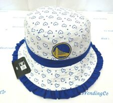 Golden State Warriors Girl's Infant New Era Heart Frill Bucket Hat Cap