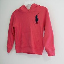 Ralph Lauren Boys Big Pony Pullover Hoodie Crosby Red Sz 5 - NWT