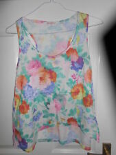 New Look Girls' Floral Sleeveless T-Shirts, Top & Shirts (2-16 Years)