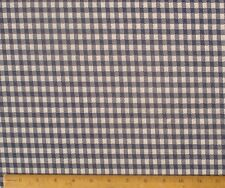 """Vintage Polyester Knit Fabric Blue Check 60"""" w x 82"""" L"""