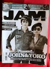John Lennon Yoko on cover of JAM Magazine Italy #176 Costello Paul McCartney