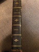 Les annales de 1924 reliées cuir.