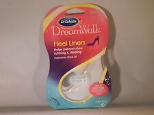 Dr Scholls Dreamwalk Gel Heel Liners one pair Clear Comfort Walking           A2