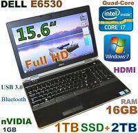 # (3D-Design) DELL E6530 i7-QUAD (1TB SSD + 2TB) 16GB 15.6 FHD nVIDIA Backlit