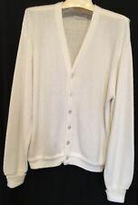 Vintage LORD JEFF Cardigan Button Front Sweater Cream Orlon Men's XL
