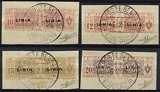 La LIBIA COLONIA ITALIANA 1915-1924 SG #P 26-p29, 10L, 12L, 15L, 20L PACCHI POSTALI #A 92589