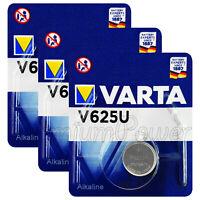 3 x Varta V625U batteries Alkaline 1.5V LR9 4626 PX625A 625A Button Cell Key Fob