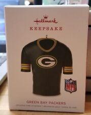 GREEN BAY PACKERS HALLMARK KEEPSAKE JERSEY ORNAMENT NEW ORIGINAL BOX