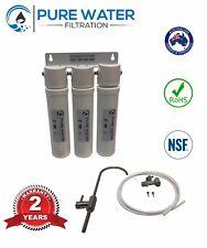 3 Stage Undersink Quick Connect Filter System -Removes 99.9% Chlorine. Alkaliser