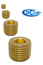 "Brass Pipe Fitting Plug-Hex  Drive-1/16"" NPT Male Plug-With Sealant-New"