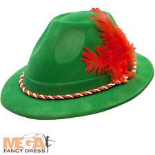 German Bavarian Hat Adults Fancy Dress Oktoberfest Mens Ladies Costume Accessory