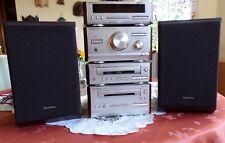 Radio Technics Tuner Disc Player Kassette Deck Stereo Boxen ST-HD501 Anlage
