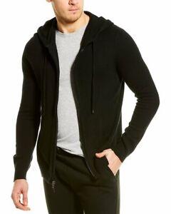 Qi Cashmere Full Zip Wool & Cashmere-Blend Hoodie Men's