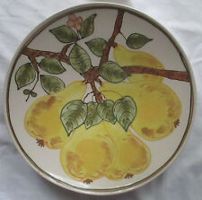 VINTAGE JANET ROTHWOMAN LARGE PEARS IN TREE DISPLAY PLATE/PLATTER - AS IS