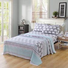 Bed Sheets for Kids Girls Boys Teens Children Beds Set, Elephant Sheet