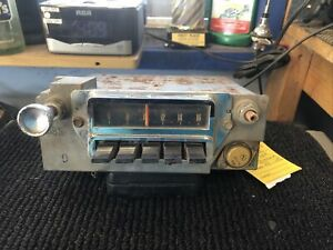 1965 FORD MUSTANG AM PUSH BUTTON RADIO WITH ONE KNOB