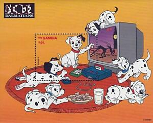 DISNEY = GAMBIA / 101 DALMATIANS S/S #3 MNH DOGS, COMPUTER GAMES