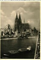 German Gothic Cathedral from Rhine River Antique RPPC Real Photo Postcard