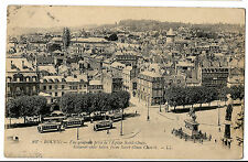 Rouen - France - General View from Eglise St Ouen Prewar Showing Trams in Square