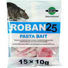 3 x Saceht Roban 25 Pasta Bait Rat & Mouse Poison
