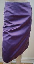 LOUIS VUITTON Women's Purple 100% Silk Sheen Evening Pencil Skirt Sz:36 UK8 BNWT