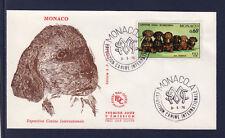 MONACO   enveloppe 1er jour    expo canine  chien  teckels   1976