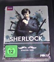Sherlock La Complète Relais 4 Limitée steelbook Édition blu ray Neuf & Ovp