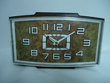 Vintage Mid-Century GE General Electric KITCHEN Wall Clock Brown WORKS USA