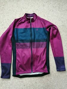 Chapeau! Ladies Madeleine Block Stripe Thermal Jersey | Juniper | Cycling Bike