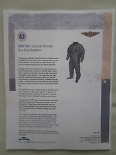 DOCUMENT RECTO VERSO TRANSAERO MUSTANG SURVIVAL MSF300 TACTICAL AIRCREW DRY SUIT