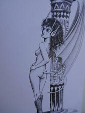SCOTT CROMPTON original art, Back Cover of Demi Adv Special #1, 11x14, 1995
