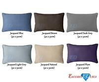 Luxury 600TC Cotton Rich Plain Dyed Cushion Cover 30 x 50cm Sofa Bed Reversible