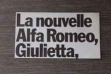 (164A) Dépliant ALFA ROMEO Giulietta