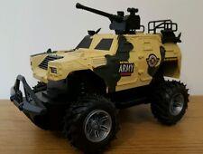 Tanque de ejército militar Monster Truck De Radio Control Remoto Escala 1:24 coche velocidad rápida