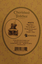 Cherished Teddies Sign Says You're Seven figurine 4020578 Nib enesco