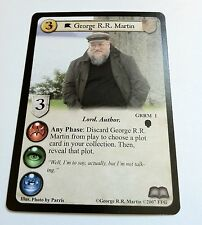 George R.R. Martin, Promotional Card, Game of Thrones, GRRM 1