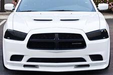 11-14 Charger GTS Acrylic Smoke Headlight Taillight Center Panel Covers 5pc Set