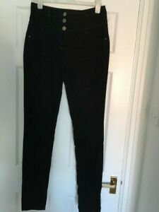BLACK HIGH WAISTED SKINNY JEANS FROM NEXT SIZE 12XL