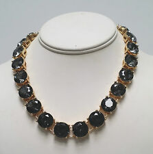 NWT J Crew Gray Crystal Statement Necklace and Bracelet Set