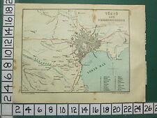 1901 JAPAN JAPANESE TOURIST MAP ~ TOKYO & NEIGHBOURHOOD ~ BAY IMPERIAL TEMPLE